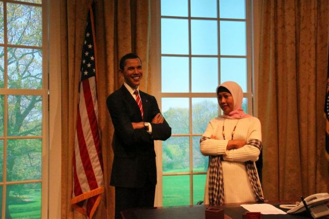 Meet Mr Obama at Madame Tussaud HK